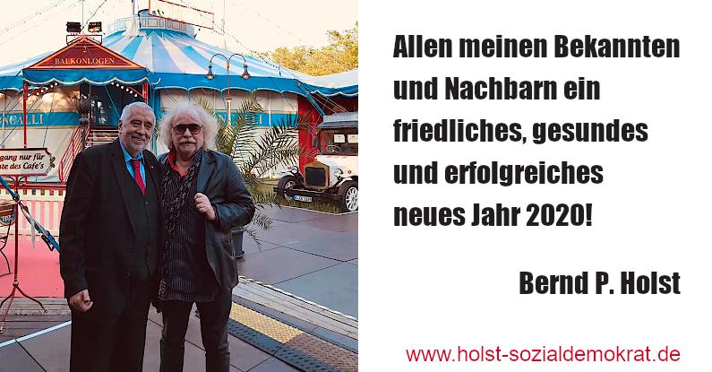 Bernd P. Holst Neujahrsgruß 2020