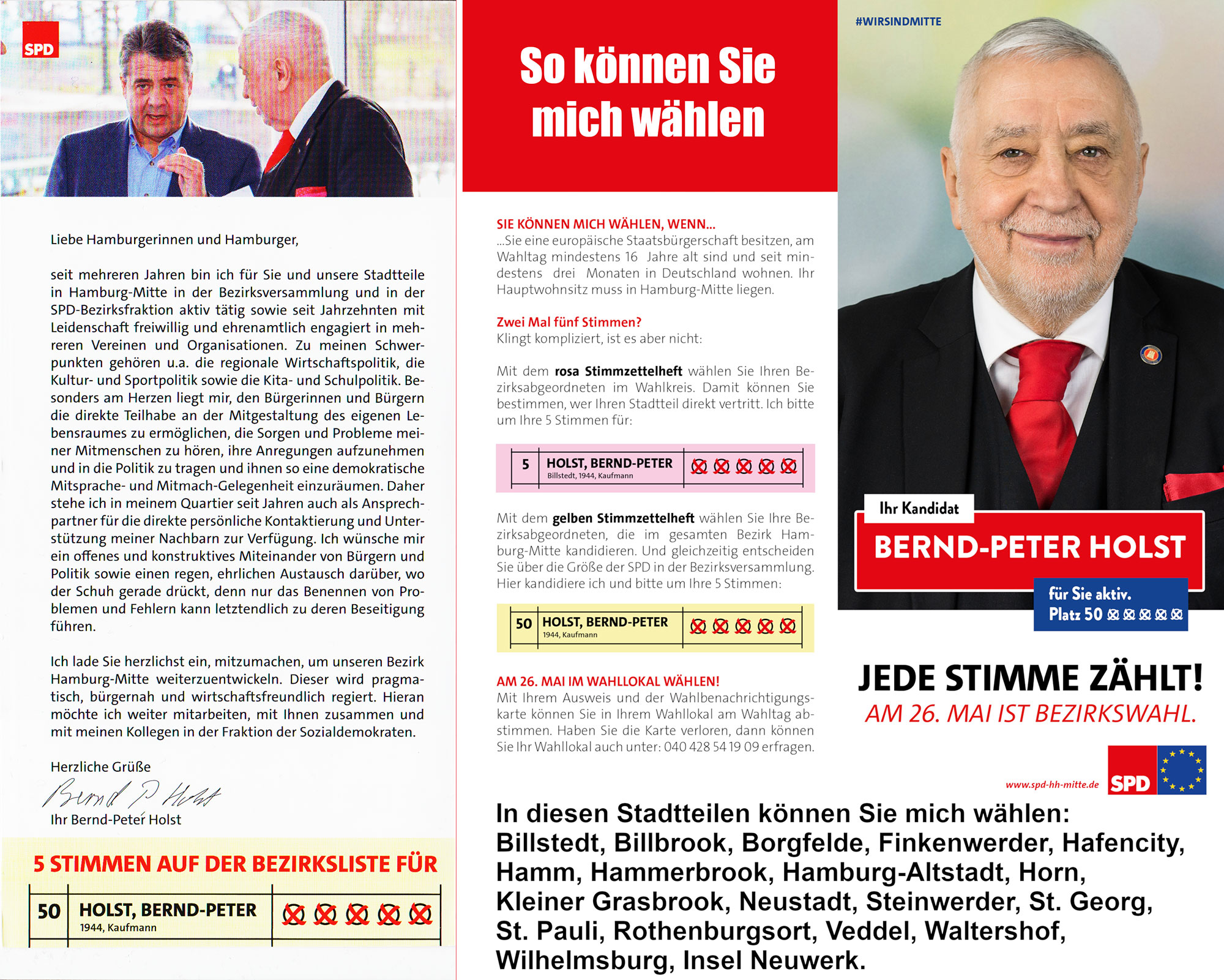Bernd P. Holst Hamburg Wahlflyer 2019